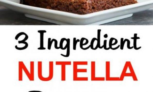 Easiest Nutella Brownies Recipe