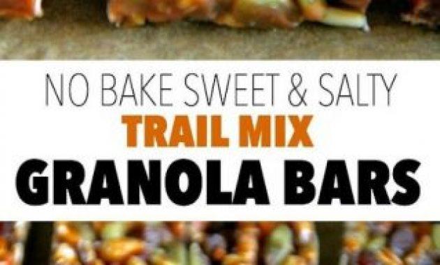 No Bake Sweet and Salty Trail Mix Granola Bars