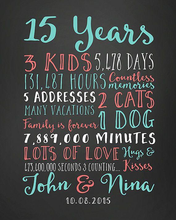 15 Year Anniversary Gift Ideas For Him  Best 25 15 year anniversary ideas on Pinterest
