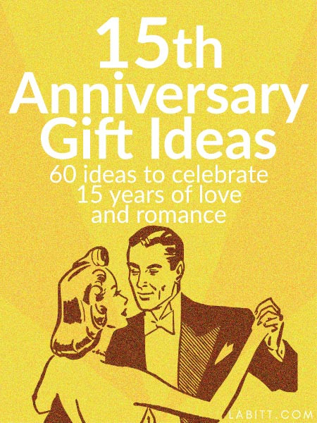 15 Year Anniversary Gift Ideas For Him  Crystal 15th Wedding Anniversary Gift Ideas for Her