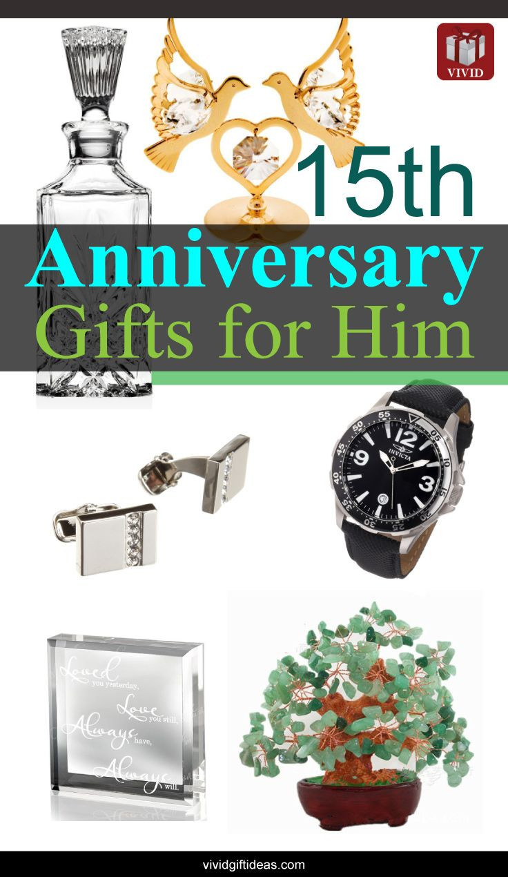 15 Year Anniversary Gift Ideas For Him  15th Wedding Anniversary Gift Ideas for Men