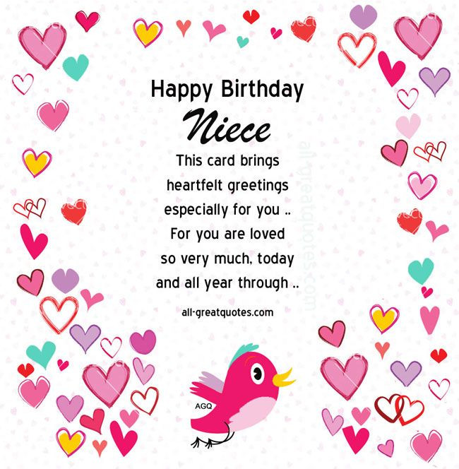1St Birthday Wishes For Niece  Pin by 1 407 283 1478 on Quotes