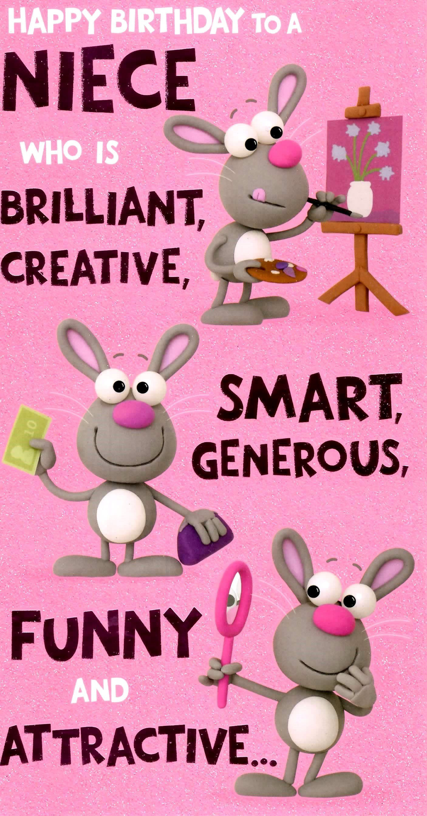 1St Birthday Wishes For Niece  birthday invitations card 1st birthday card cute funny
