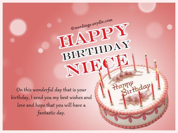 1St Birthday Wishes For Niece  Best 25 Happy birthday niece ideas on Pinterest