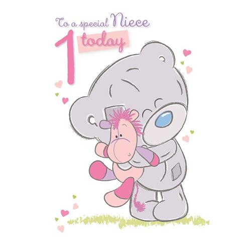 1St Birthday Wishes For Niece  Niece 1st Birthday Card Me to You Happy Birthday