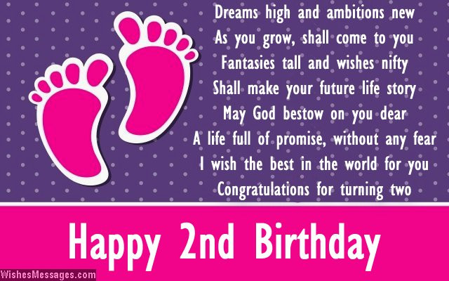 2 Year Old Birthday Quotes  Second birthday poems Happy 2nd birthday poems