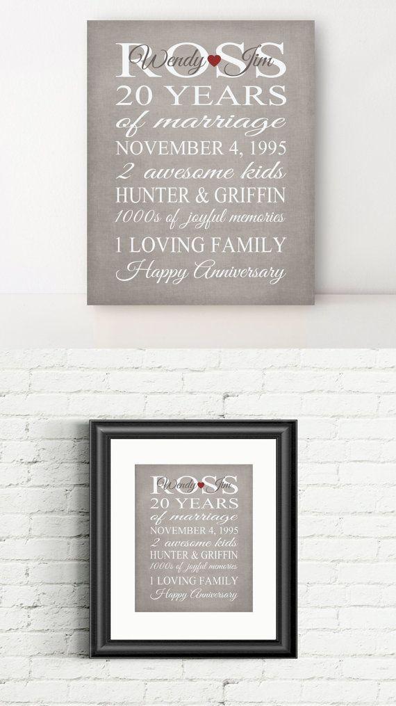 20 Anniversary Gift Ideas  Best 25 20 year anniversary ideas on Pinterest