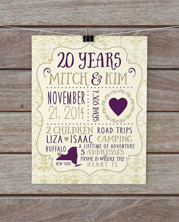 20 Anniversary Gift Ideas  Best 25 20 year anniversary ts ideas on Pinterest