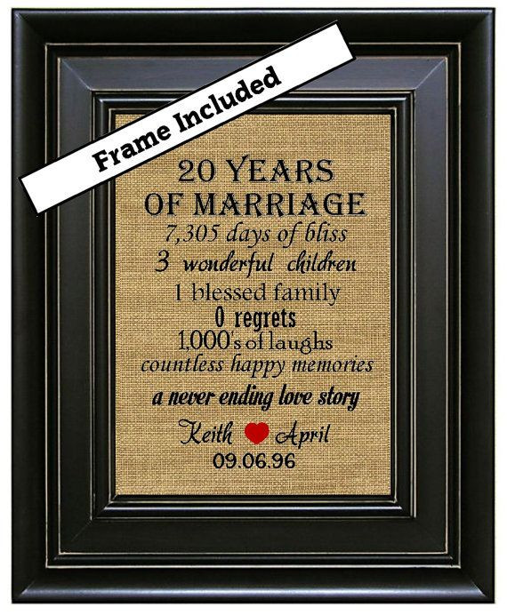 20 Anniversary Gift Ideas  1000 ideas about 20th Anniversary Gifts on Pinterest