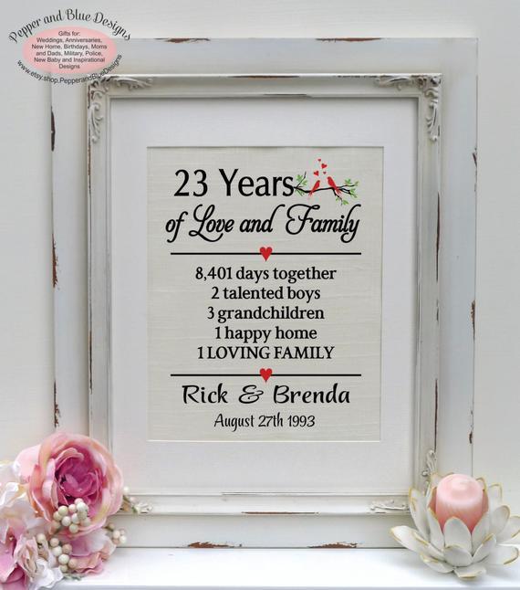 23Rd Wedding Anniversary Gift Ideas Husband  23rd wedding anniversary 23 years married by