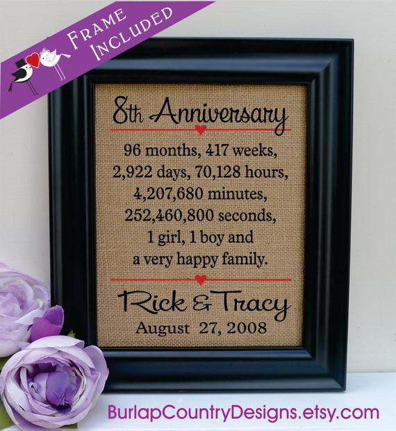 23Rd Wedding Anniversary Gift Ideas Husband  8th anniversaryGift for Husband 8th wedding anniversary t