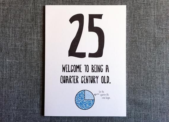 25Th Birthday Funny  Funny 25th Birthday Card 25th Birthday Card by