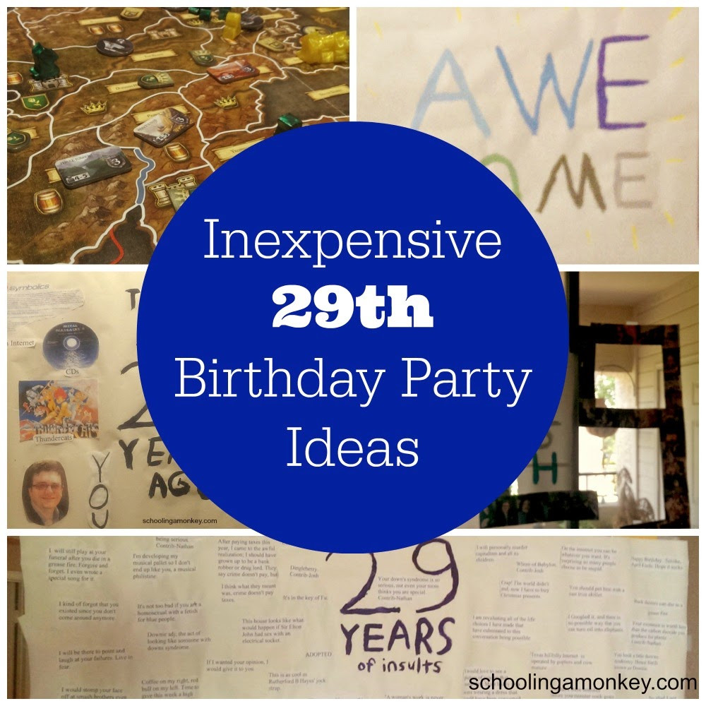 29Th Birthday Party Ideas  Decorating on a Bud 29th Birthday Party Ideas