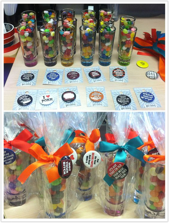29Th Birthday Party Ideas  I made grown up party favors for my husband s 29th