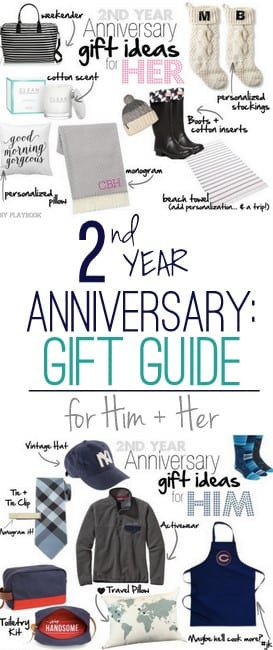 2Nd Wedding Anniversary Gift Ideas For Her  2nd Anniversary Gift Ideas for Him and Her