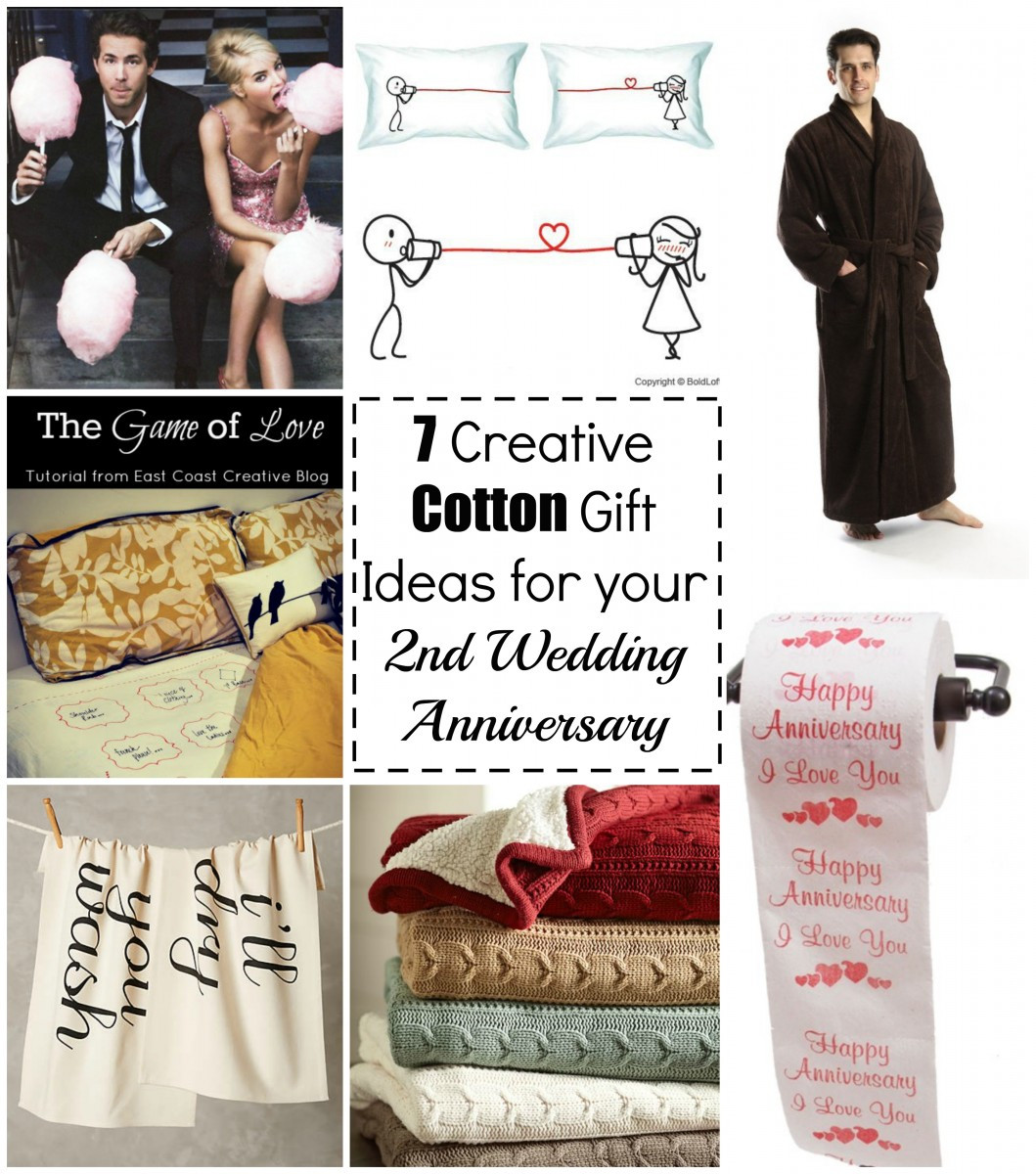 2Nd Wedding Anniversary Gift Ideas For Her  7 Cotton Gift Ideas for your 2nd Wedding Anniversary