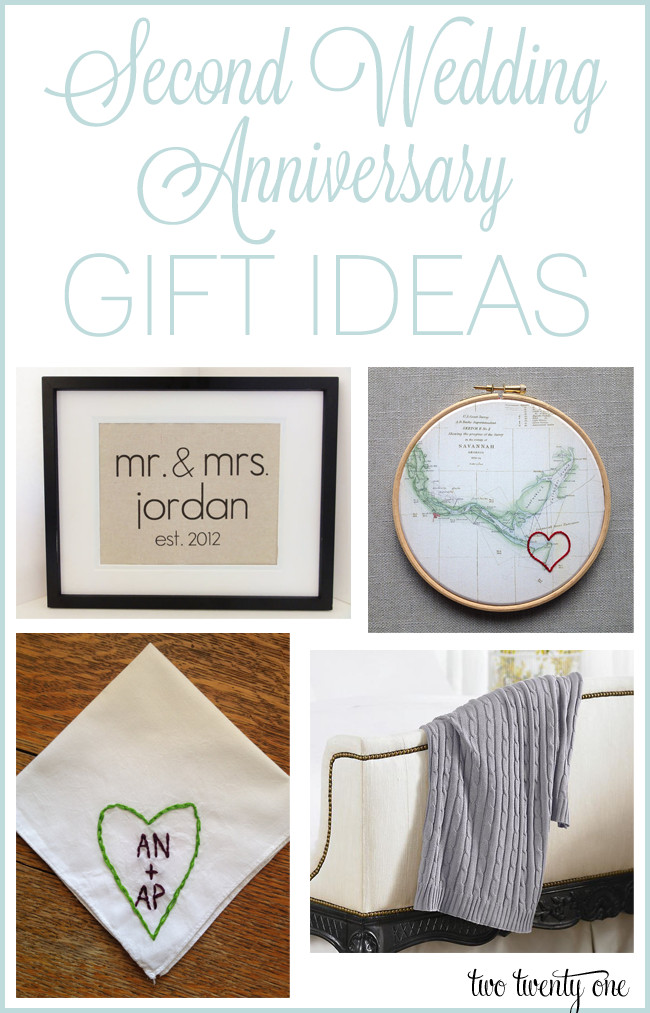 2Nd Wedding Anniversary Gift Ideas For Her  Second Anniversary Gift Ideas