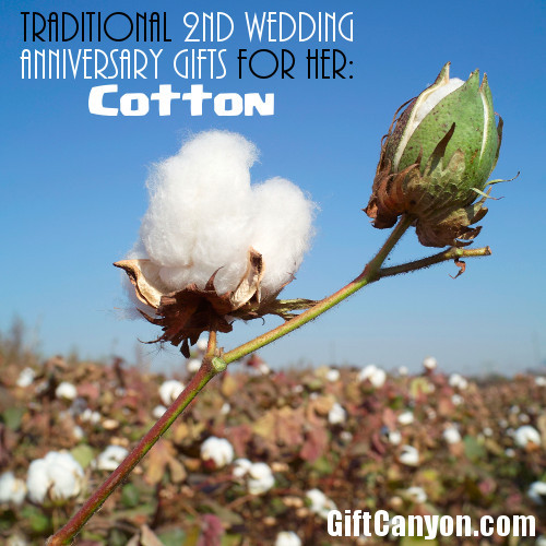 2Nd Wedding Anniversary Gift Ideas For Her  Traditional 2nd Wedding Anniversary Gifts for Her Cotton