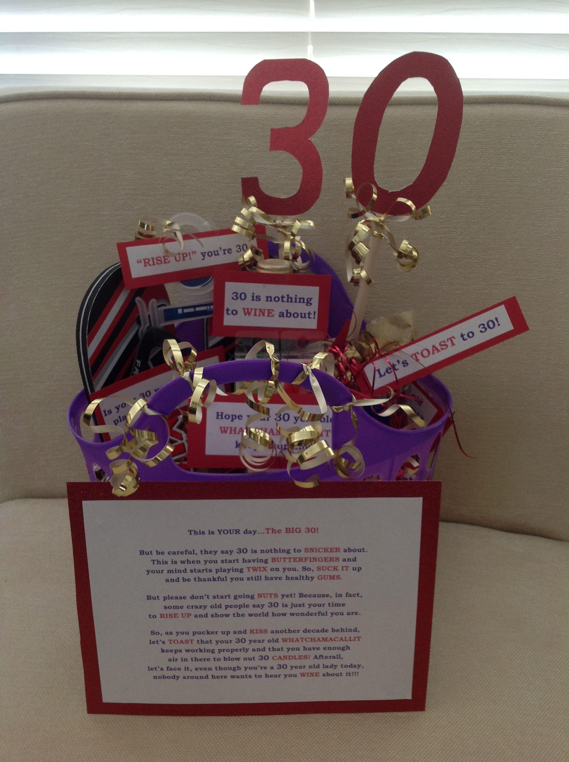 30Th Birthday Gift Ideas  30th birthday t basket Easy diy and so fun