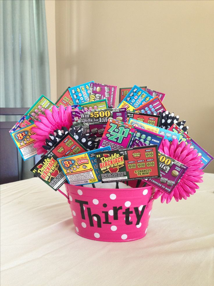 30Th Birthday Gift Ideas  17 Best images about Lottery Ticket Bouquets on Pinterest
