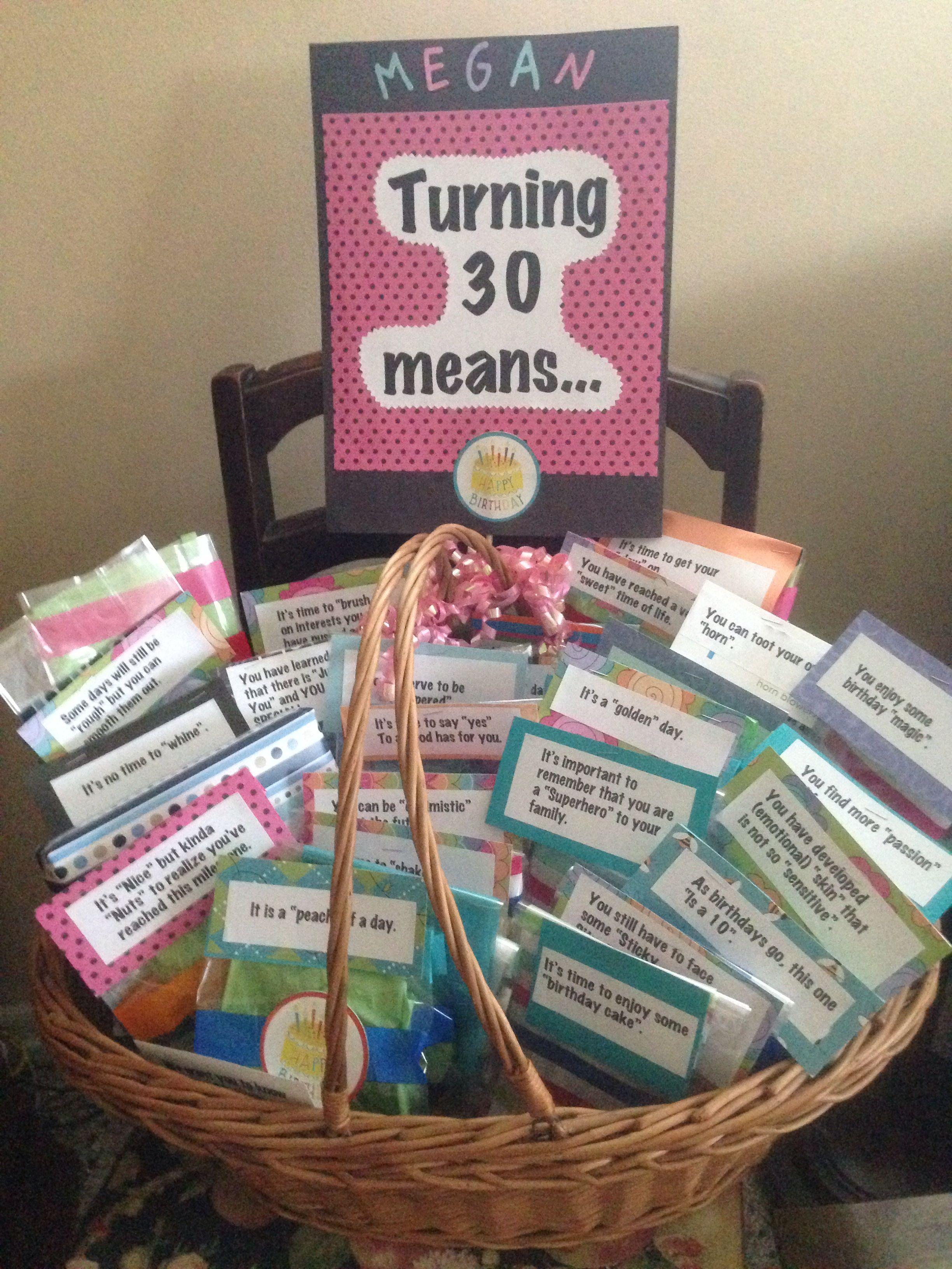 30Th Birthday Gift Ideas  Turning 30 Gift Basket Gift Baskets