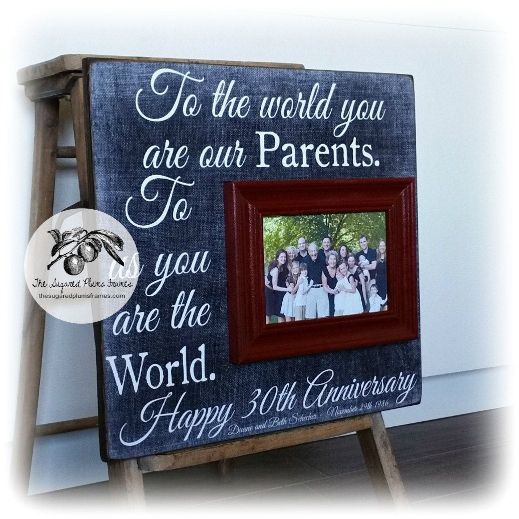 30Th Wedding Anniversary Gift Ideas For Parents  Parents Anniversary Gift 30th Anniversary Gifts 50th