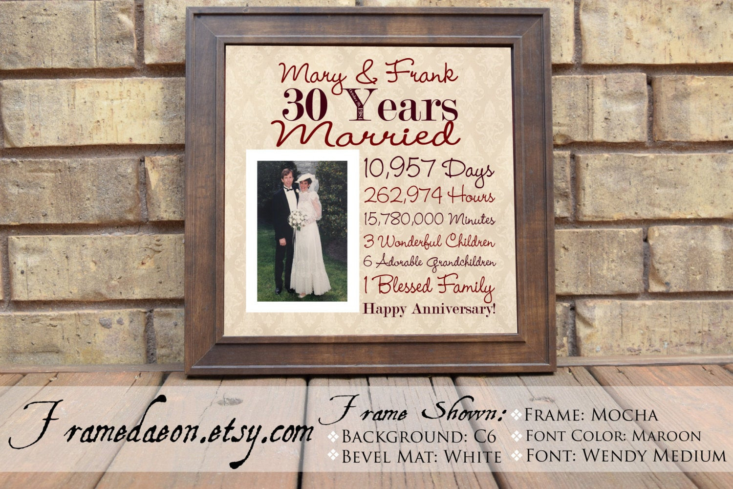 30Th Wedding Anniversary Gift Ideas For Parents  Wedding Anniversary 30th Wedding Anniversary Gift Parent