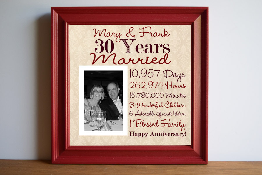 30Th Wedding Anniversary Gift Ideas For Parents  30th Wedding Anniversary Gift Ideas