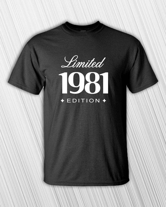 35Th Birthday Gift Ideas For Him  35th Birthday Gift For Him Her 1981 Limited Edition Mens