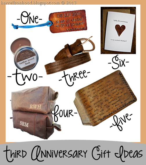 3Rd Wedding Anniversary Gift Ideas  third anniversary leather t ideas for him etsy finds