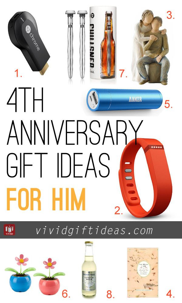 4 Year Wedding Anniversary Gift Ideas For Him  4th Wedding Anniversary Gift Ideas