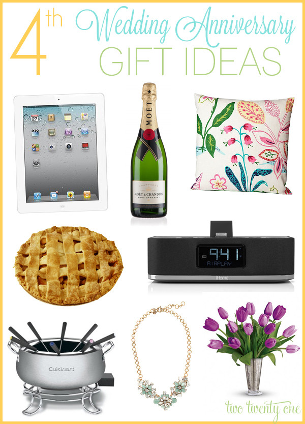 4 Year Wedding Anniversary Gift Ideas For Him  4th Anniversary Gift Ideas