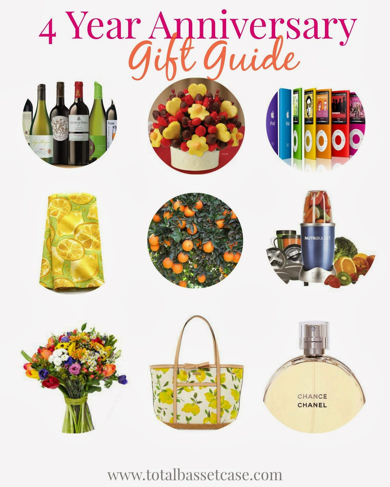 4 Year Wedding Anniversary Gift Ideas For Him  Total Basset Case Fruit & Flowers 4 Year Anniversary