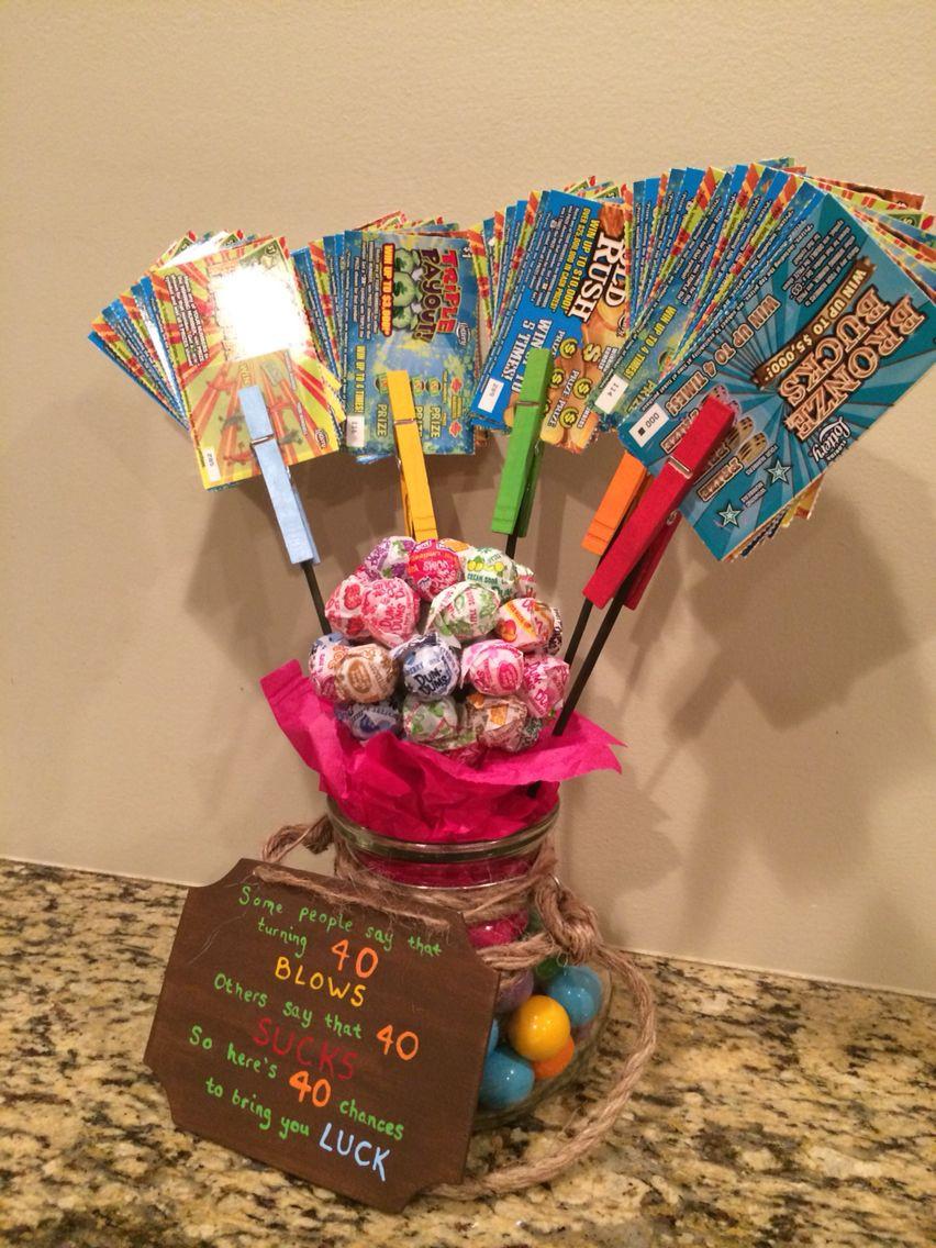 40 Birthday Gift Ideas  40 blows 40 sucks t I made for a friends birthday