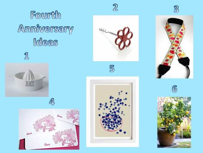 4Th Anniversary Gift Ideas  17 Best ideas about 4th Anniversary Gifts on Pinterest