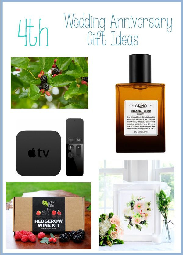 4Th Anniversary Gift Ideas  25 best ideas about 4th Wedding Anniversary Gift on