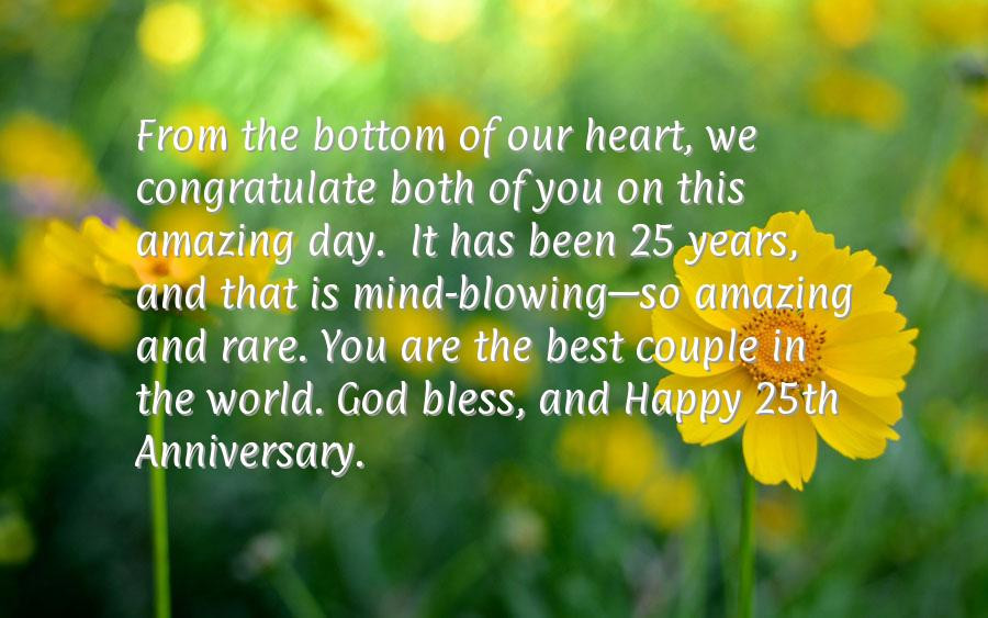 6 Year Anniversary Quotes  Happy 25th Wedding Anniversary Wishes