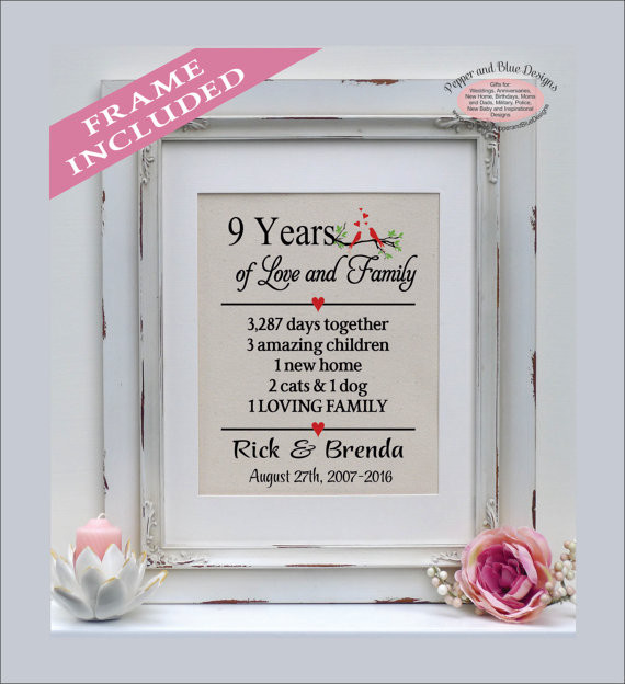 9Th Anniversary Gift Ideas For Her  9th anniversary ts 9th anniversary t for her