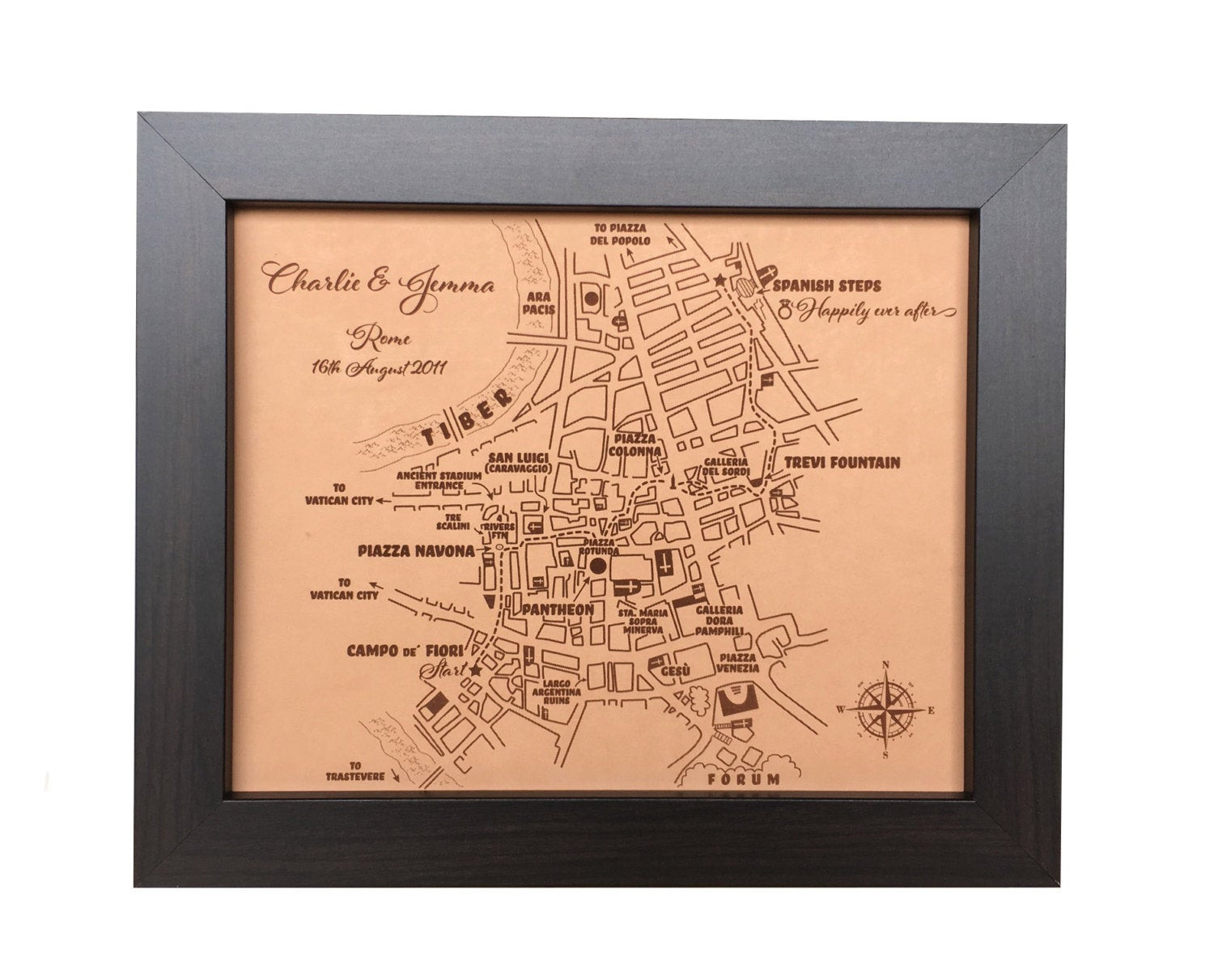 9Th Anniversary Gift Ideas For Her  leather anniversary t for her custom leather city map 3rd