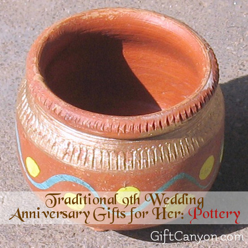 9Th Anniversary Gift Ideas For Her  9th Year Pottery Wedding Anniversary Gifts for Her Gift