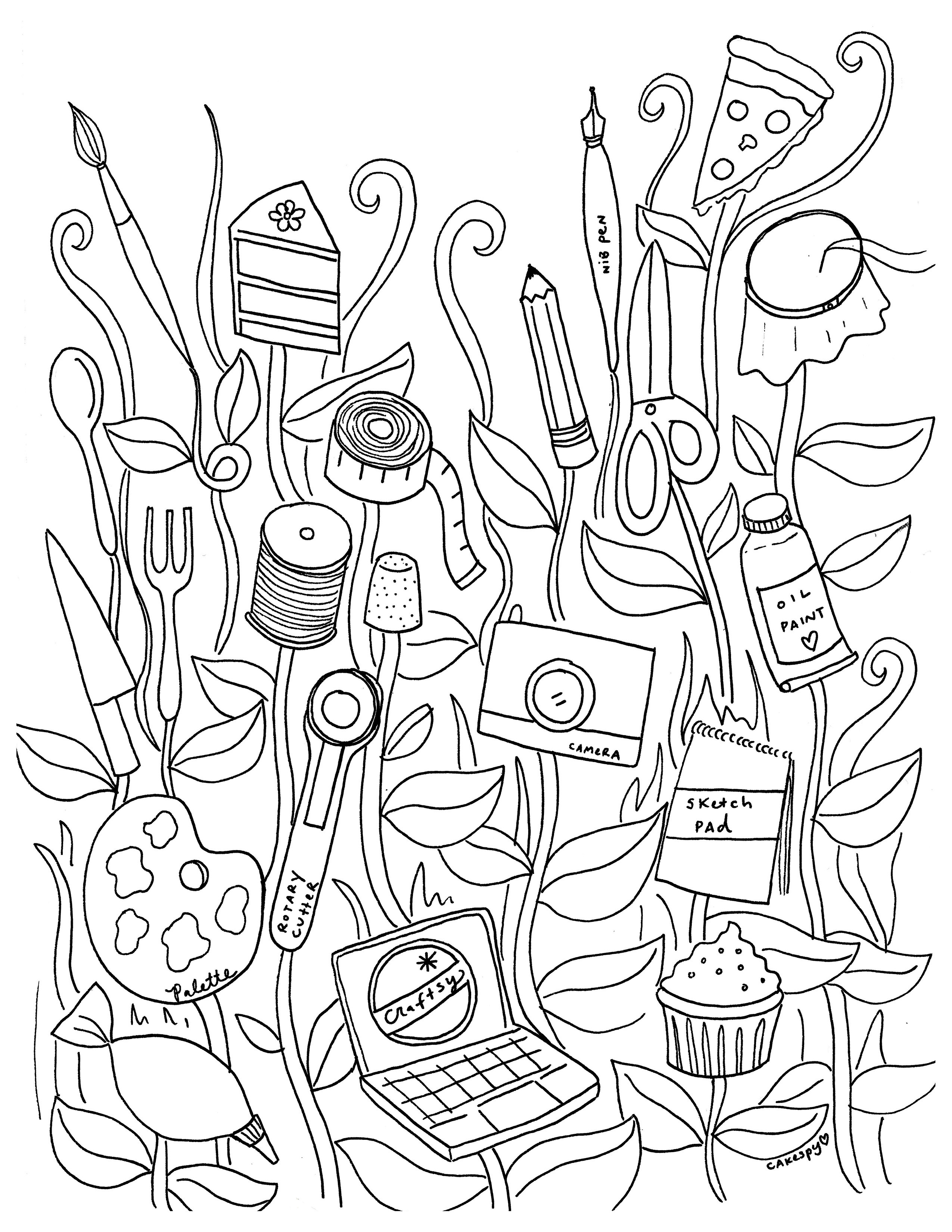 Adult Coloring Book Download  Free Coloring Book Pages for Adults