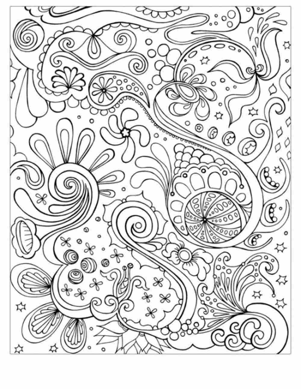 Adult Coloring Book Download  Abstract Coloring Pages For Adults Coloring Home