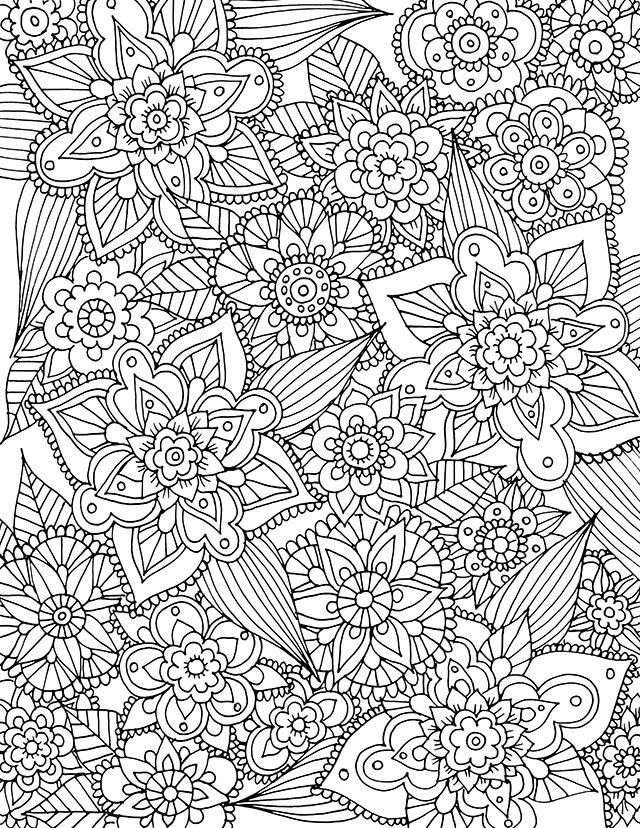 Adult Coloring Book Download  alisaburke free spring coloring page