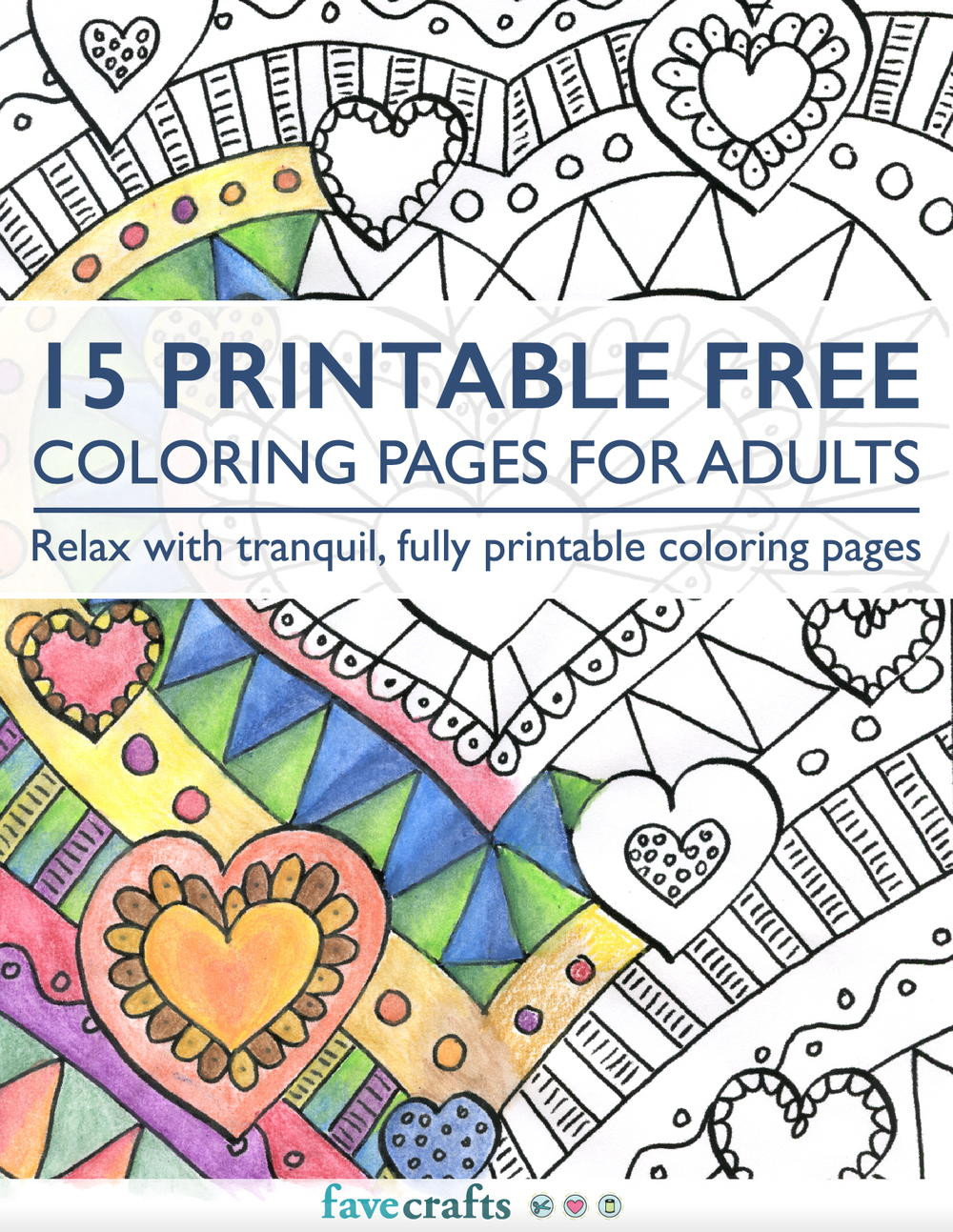 Adult Coloring Book Download  15 Printable Free Coloring Pages for Adults [PDF