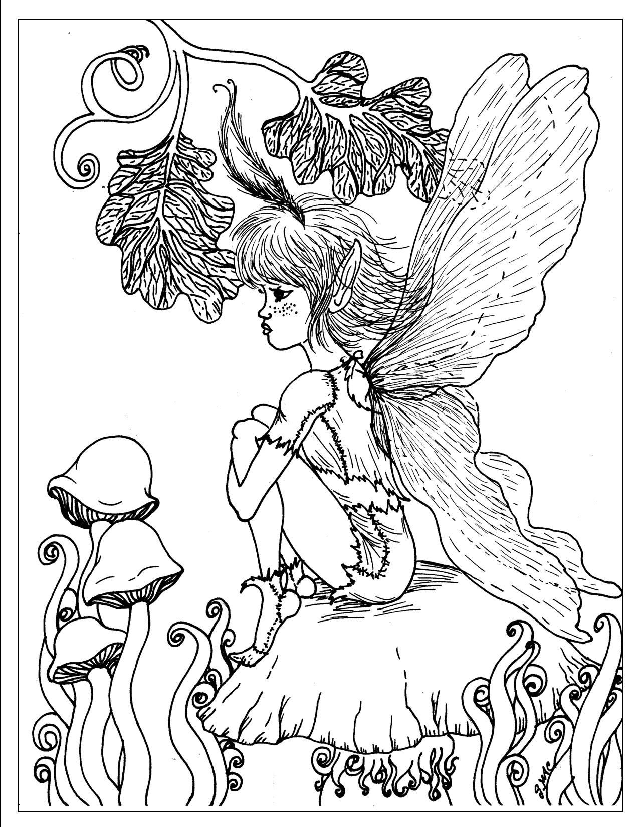 Adult Coloring Book Download  Fantasy coloring pages for adults to and print