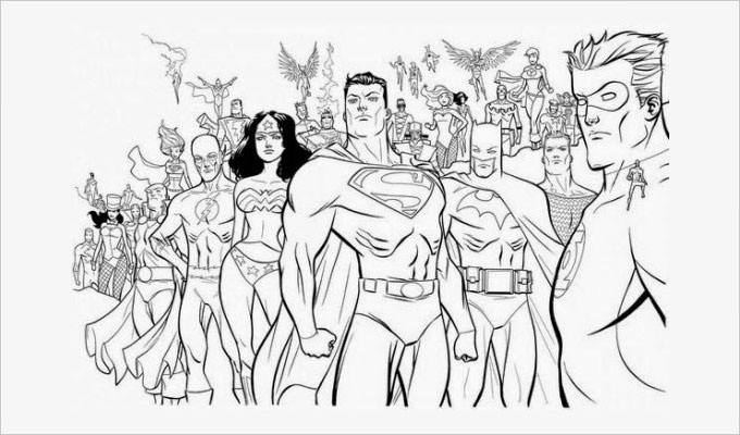 Adult Superhero Coloring Book  Superhero Coloring Pages Coloring Pages