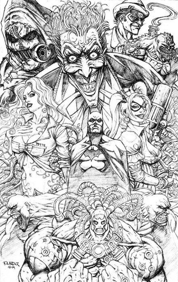 Adult Superhero Coloring Book  Free printable Suicide Squad coloring pages for adults