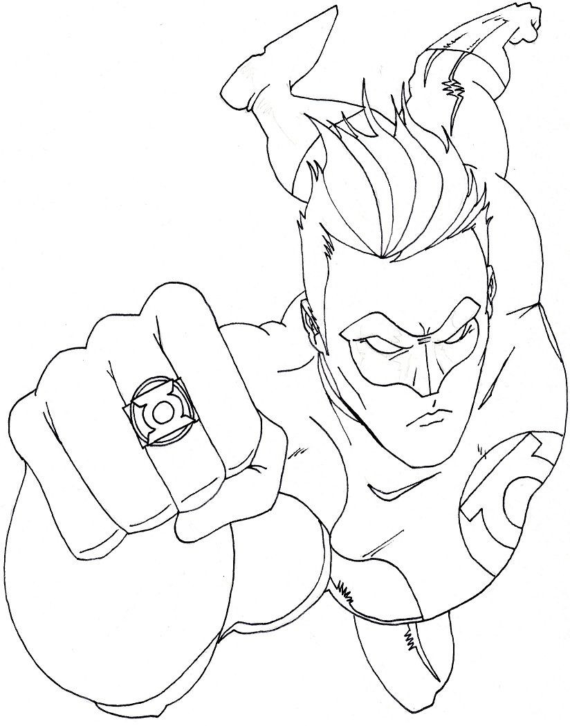 Adult Superhero Coloring Book  Superhero Coloring Pages