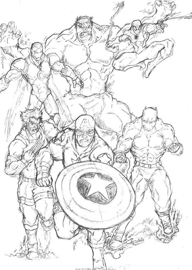 Adult Superhero Coloring Book  Free super heroes coloring page