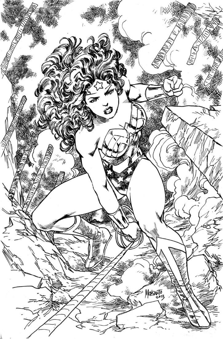 Adult Superhero Coloring Book  Wonder Woman by gammaknight on deviantART